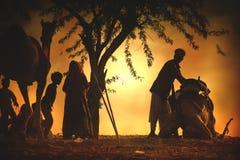 Προμηθευτές καμηλών από την πόλη Pushkar, Pushkar Mela στοκ φωτογραφία με δικαίωμα ελεύθερης χρήσης
