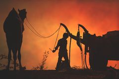 Προμηθευτές καμηλών από την πόλη Pushkar, Pushkar Mela στοκ φωτογραφίες