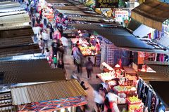 Προμηθευτές σε έναν δρόμο με έντονη κίνηση σε MongKok, Χονγκ Κονγκ Στοκ Φωτογραφίες