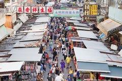 Προμηθευτές σε έναν δρόμο με έντονη κίνηση σε MongKok, Χονγκ Κονγκ Στοκ εικόνες με δικαίωμα ελεύθερης χρήσης
