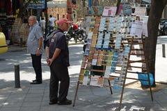 Προμηθευτής εισιτηρίων λαχειοφόρων αγορών στοκ εικόνες