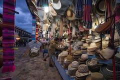 Προμηθευτής καπέλων αχύρου Villa de Leyva Στοκ φωτογραφία με δικαίωμα ελεύθερης χρήσης