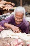 Προμηθευτής κρέατος, Yangon, το Μιανμάρ Στοκ Φωτογραφίες