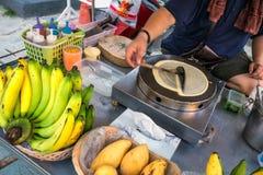 Προμηθευτής τηγανιτών μπανανών Στοκ Εικόνες