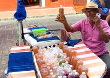 Προμηθευτής χυμού στο Μεξικό Στοκ Εικόνες