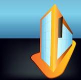 Προοπτική ενός κτηρίου διανυσματική απεικόνιση