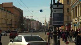 Προοπτική ναυαρχείου και Nevsky απόθεμα βίντεο