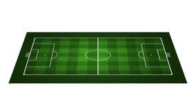 προοπτική ποδοσφαίρου πεδίων Στοκ Φωτογραφία