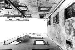 Προοπτική των παλαιών κτηρίων Στοκ Εικόνα