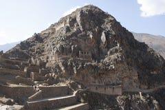 Προοπτική Cuzco Περού τοίχων πετρών Oyantaytambo στοκ εικόνες με δικαίωμα ελεύθερης χρήσης