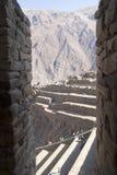 Προοπτική Cuzco Περού τοίχων πετρών Oyantaytambo στοκ φωτογραφίες με δικαίωμα ελεύθερης χρήσης