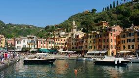 Προορισμοί της Ιταλίας διακοπών μαρινών πολυτέλειας Portofino στη Λιγυρία απόθεμα βίντεο