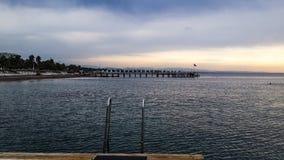 Προορισμός άποψης θάλασσας των διακοπών παραλιών σε Antalya Τουρκία Στοκ φωτογραφία με δικαίωμα ελεύθερης χρήσης