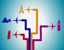 Προορισμός πτήσης Στοκ εικόνα με δικαίωμα ελεύθερης χρήσης