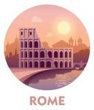 Προορισμός Ρώμη ταξιδιού απεικόνιση αποθεμάτων