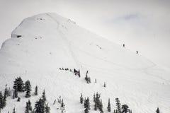 Προορισμός σκι πίσω χώρας Στοκ Φωτογραφίες