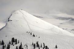 Προορισμός σκι πίσω χώρας Στοκ Εικόνες