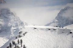 Προορισμός σκι Στοκ Εικόνες