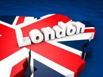 Προορισμός του Λονδίνου απεικόνιση αποθεμάτων