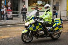 Προπομπός αστυνομίας στην κηδεία της Θάτσερ βαρονών στοκ εικόνες με δικαίωμα ελεύθερης χρήσης