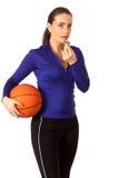 Προπονητής του μπάσκετ γυναικών στοκ εικόνες με δικαίωμα ελεύθερης χρήσης