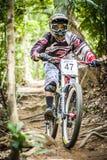 Προς τα κάτω αθλητισμός ποδηλάτων Στοκ εικόνες με δικαίωμα ελεύθερης χρήσης
