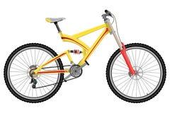 Προς τα κάτω ακραίο αθλητικό ποδήλατο διανυσματική απεικόνιση
