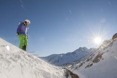 Προς τα κάτω κάνοντας σκι Στοκ εικόνες με δικαίωμα ελεύθερης χρήσης