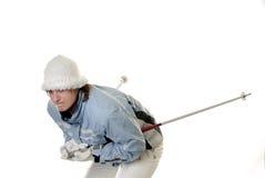 προς τα κάτω κάνοντας σκι &n Στοκ φωτογραφία με δικαίωμα ελεύθερης χρήσης