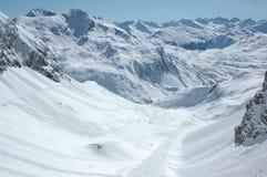 προς τα κάτω rs κλίση σκι στ&omi Στοκ Εικόνες