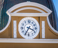 Προς τα πίσω ρολόι του βολιβιανού παλατιού της κυβέρνησης - Λα Παζ, Βολιβία Στοκ φωτογραφία με δικαίωμα ελεύθερης χρήσης