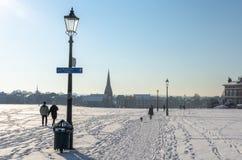 Προς το χωριό Blackheath μια χιονώδη ημέρα στοκ εικόνα με δικαίωμα ελεύθερης χρήσης
