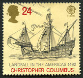 Προσέγγιση σε ξηρά στο γραμματόσημο της Αμερικής UK Στοκ εικόνες με δικαίωμα ελεύθερης χρήσης