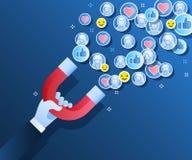 Προσέλκυση των πελατών και των πελατών στην επιχείρηση Στοκ Εικόνες