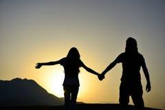 Προσέξτε τον ήλιο μαζί & την αγάπη & καλός & από κοινού Στοκ Εικόνες