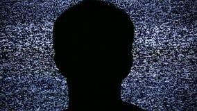 Προσέχοντας στατικός θόρυβος TV απεικόνιση αποθεμάτων