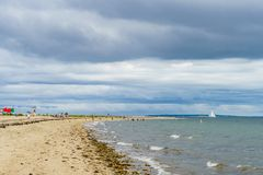 Προσανατολίστε την παραλία, Long Island Στοκ Εικόνα