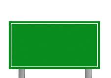 Προσανατολισμένο στους πελάτες κενό απομονωμένο άσπρο σημάδι μεγάλων εθνικών οδών Στοκ Φωτογραφίες