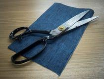 Προσαρμόζοντας ψαλίδι Μεγάλο dressmaking ή προσαρμογής ψαλίδι Στοκ Φωτογραφία