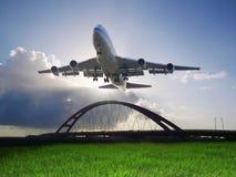 προσγείωση αεροπλάνων Στοκ εικόνες με δικαίωμα ελεύθερης χρήσης