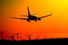 προσγείωση αεροπλάνων Στοκ Εικόνες