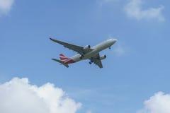 Προσγείωση αεροσκαφών Στοκ εικόνα με δικαίωμα ελεύθερης χρήσης
