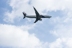 Προσγείωση αεροσκαφών Στοκ Εικόνες