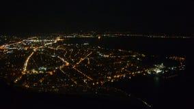 Προσγείωση κατά τη διάρκεια της νύχτας απόθεμα βίντεο