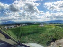 Προσγείωση πράσινη Στοκ Εικόνες