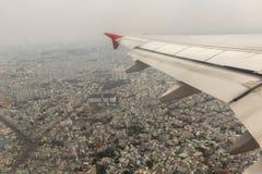 Προσγείωση στην πόλη του Ho Chi Minh στο Βιετνάμ Στοκ Εικόνα