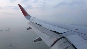 Προσγείωση στο Χονγκ Κονγκ απόθεμα βίντεο