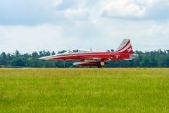 Προσγείωση της αεριωθούμενης τίγρης ΙΙ θλνορτχροπ φ-5E Στοκ φωτογραφία με δικαίωμα ελεύθερης χρήσης