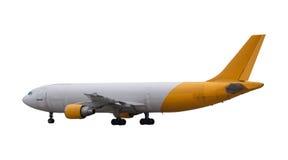 Προσγείωση του άσπρου απομονωμένου αεροπλάνο υποβάθρου για για πολλές χρήσεις Στοκ εικόνες με δικαίωμα ελεύθερης χρήσης