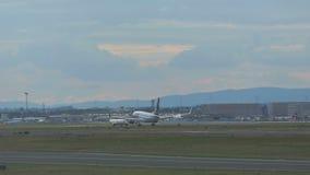 προσγείωση 737 Boeing απόθεμα βίντεο